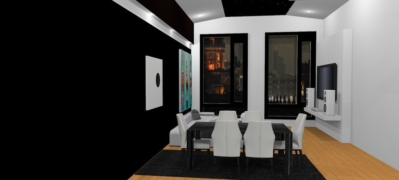 Ático: salón, cocina, comedor 1