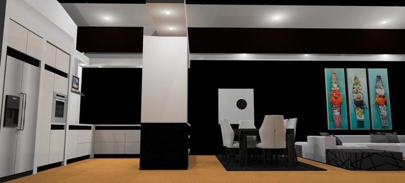 Ático: salón, cocina, comedor 3