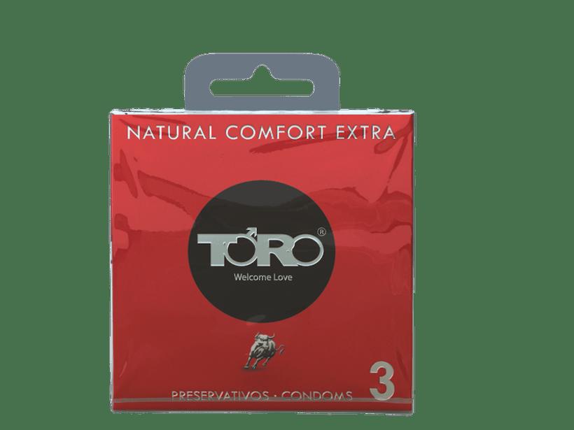 DISEÑO PACKAGING TORO CONDOMS NATURAL COMFORT -1