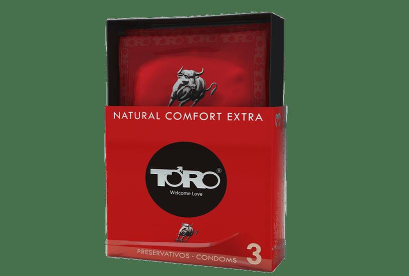 DISEÑO PACKAGING TORO CONDOMS NATURAL COMFORT 0