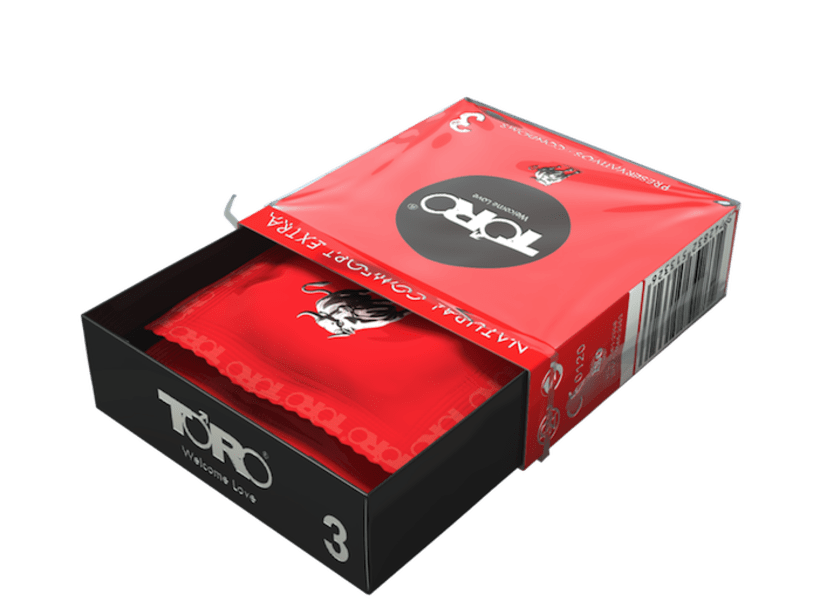 DISEÑO PACKAGING TORO CONDOMS NATURAL COMFORT 1