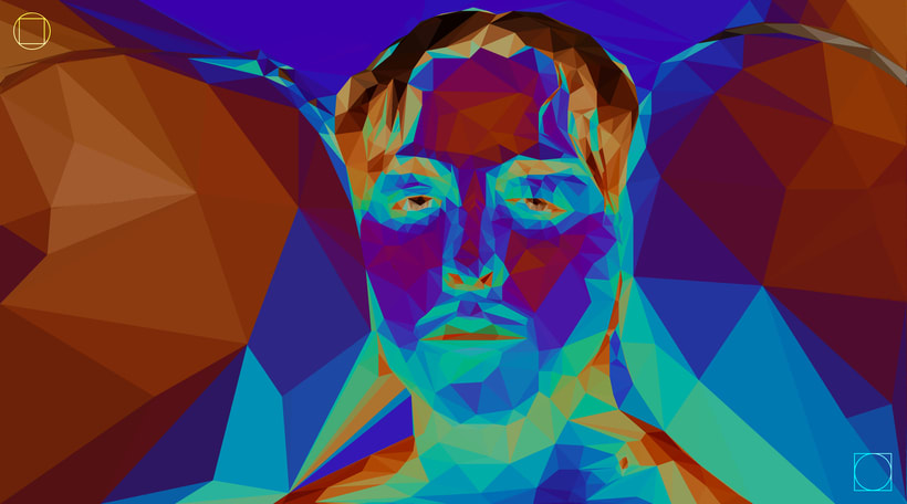 "Tommy Cash - Low Poly Illustration from ""Winnaloto"" 4"