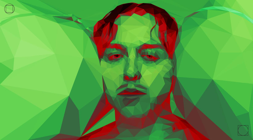 "Tommy Cash - Low Poly Illustration from ""Winnaloto"" 3"