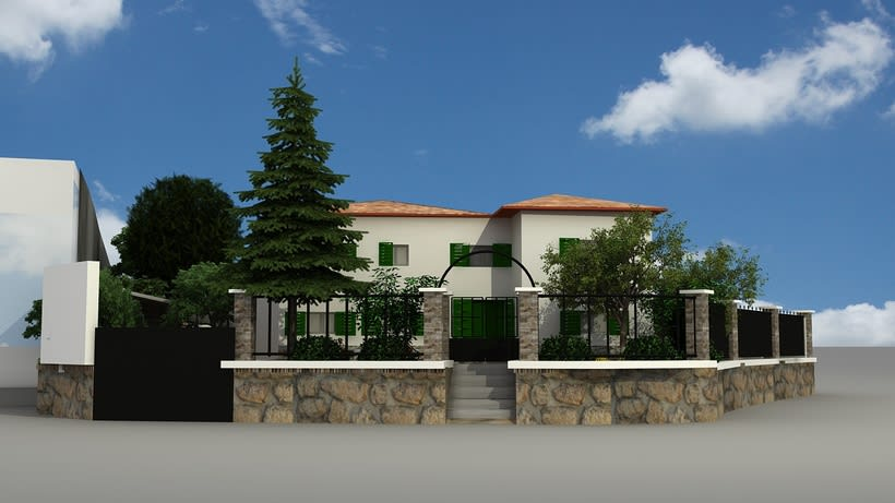 Casa unifamiliar 3D  -1