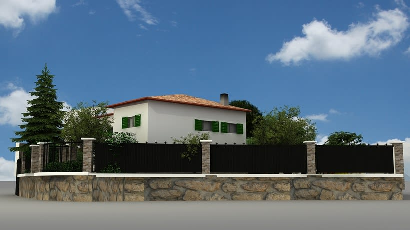 Casa unifamiliar 3D  0