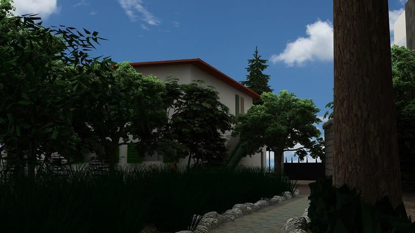 Casa unifamiliar 3D  1