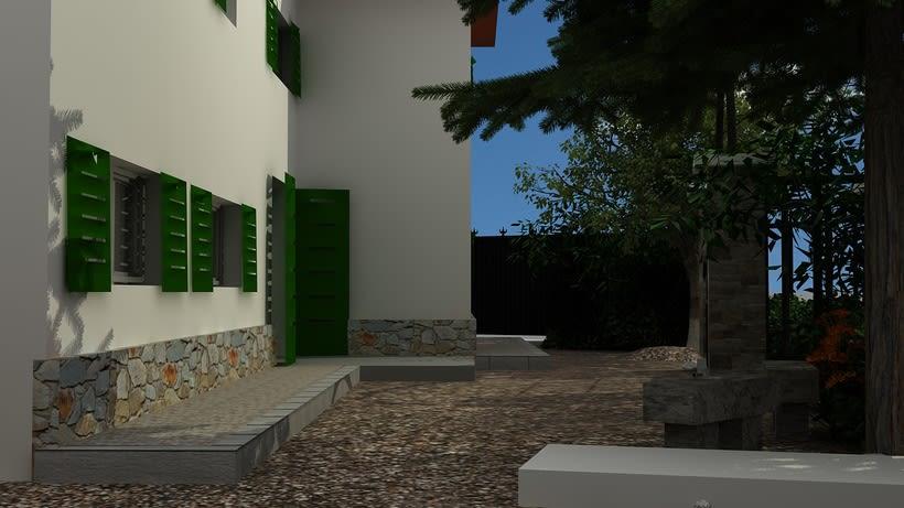 Casa unifamiliar 3D  2