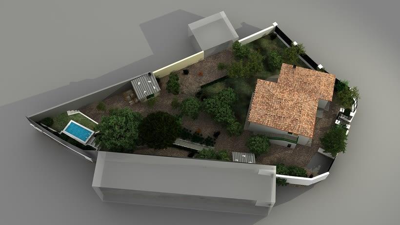 Casa unifamiliar 3D  3