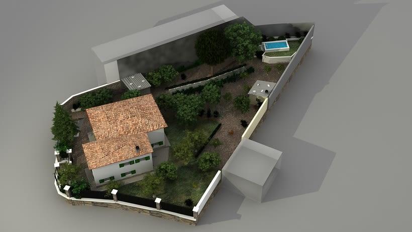 Casa unifamiliar 3D  4