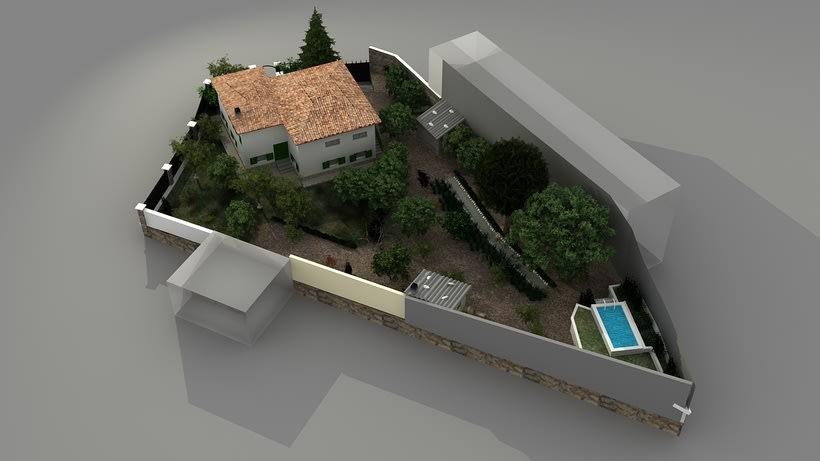 Casa unifamiliar 3D  5