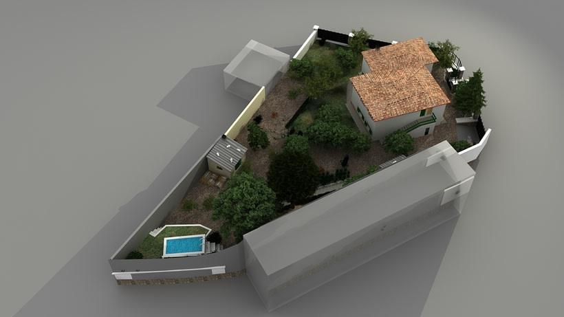 Casa unifamiliar 3D  7