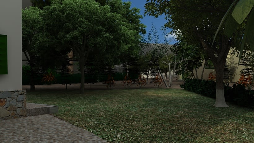 Casa unifamiliar 3D  9