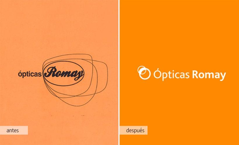 Rediseño Ópticas Romay 1