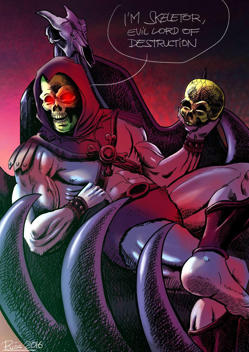 Skeletor Fan Art. Masters of the Universe illustration. -1
