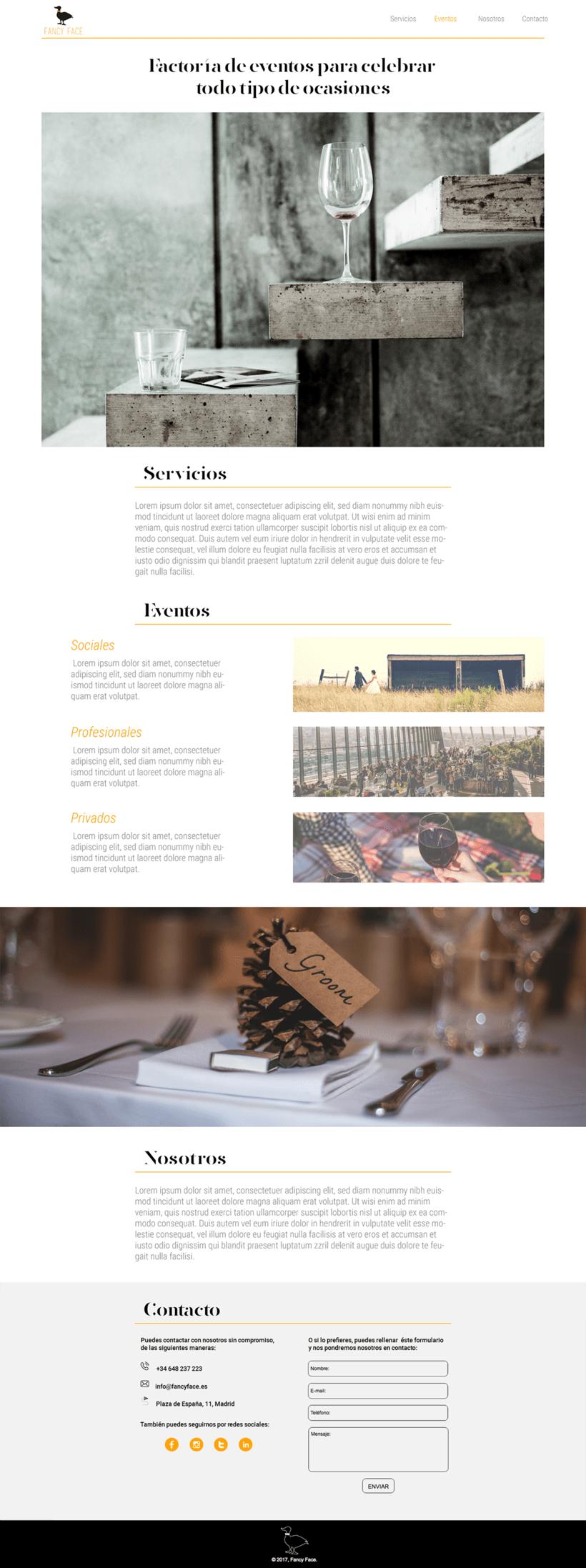 Fancy Face | Proyecto para página web 0