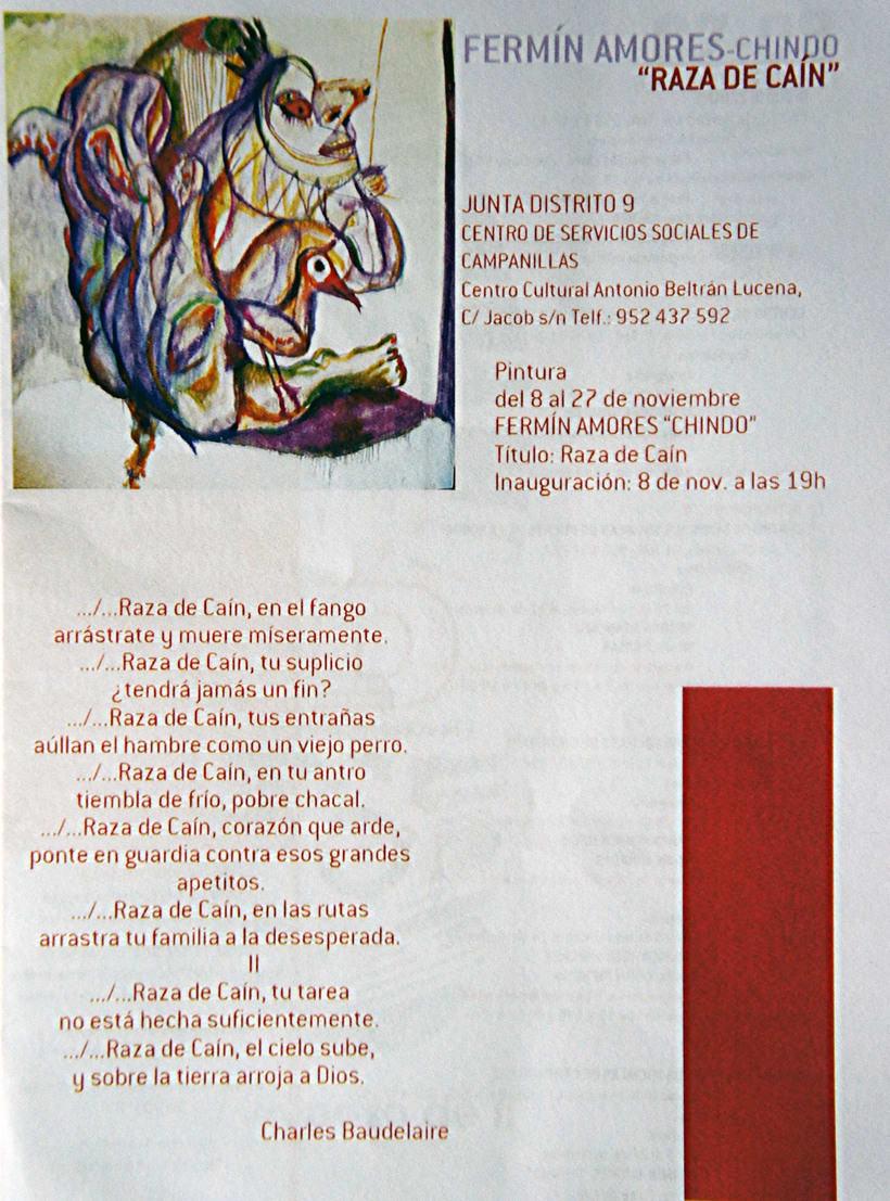 Raza de Cain. Exposición de pintura. Proyecto Dmarcaciones. 0