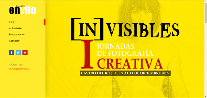 Web Jornadas Fotografía Creativa [IN]VISIBLES 1
