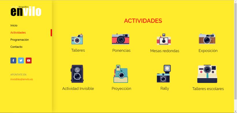 Web Jornadas Fotografía Creativa [IN]VISIBLES 2