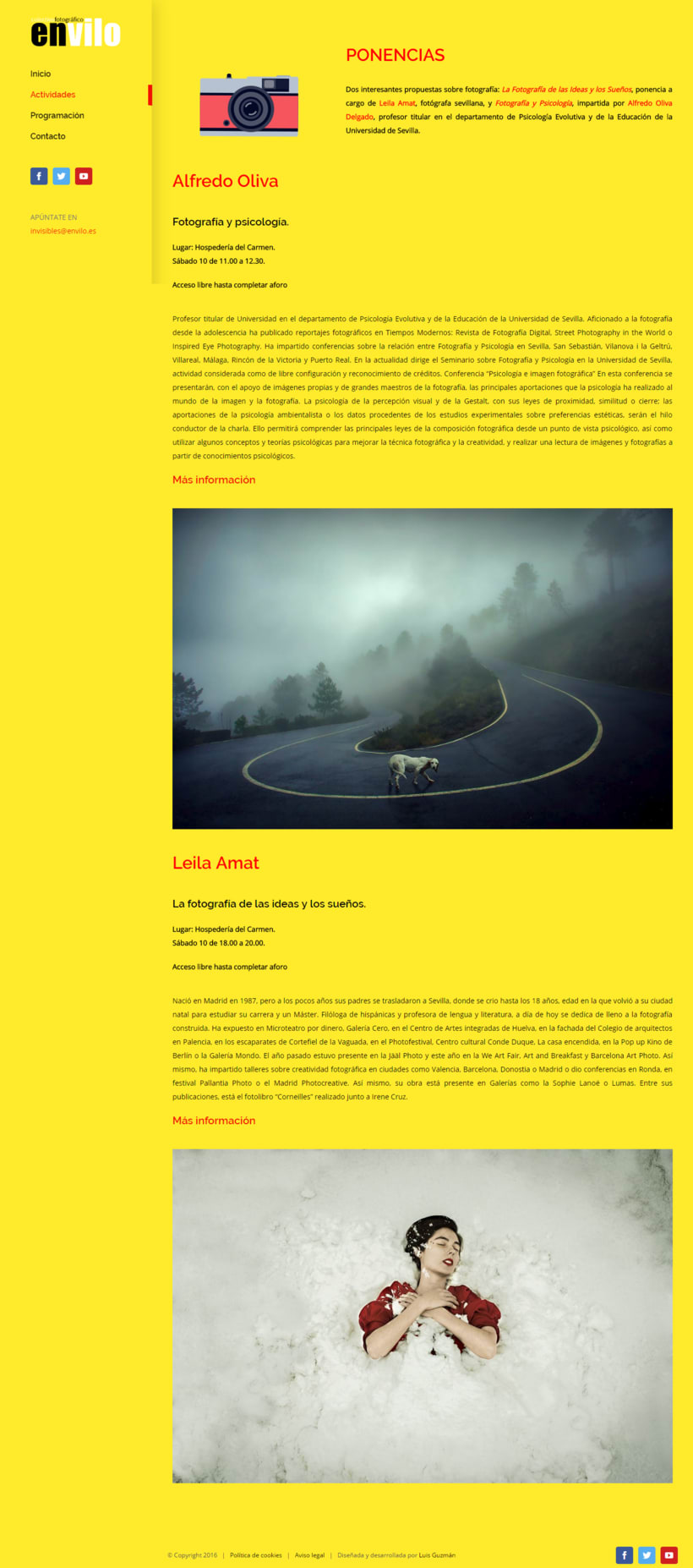 Web Jornadas Fotografía Creativa [IN]VISIBLES 5