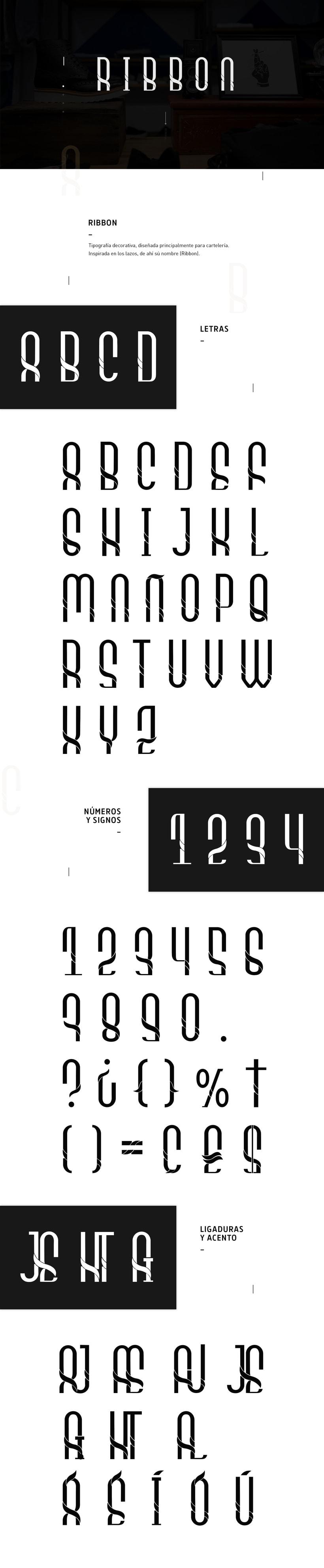 Tipografía Ribbon -1