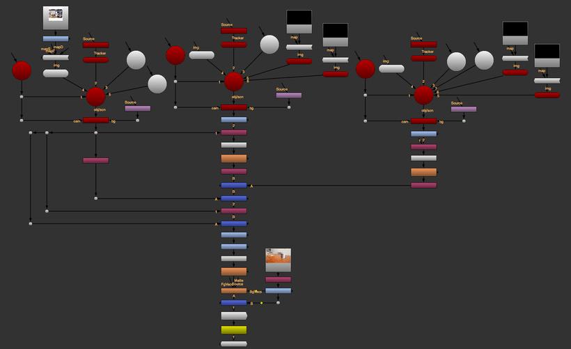 Practica integración caja 3D con render y sombra en Nuke. 2