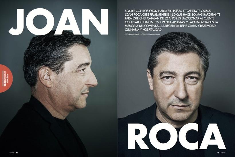 Entrevista al chef catalán Joan Roca para la revista Dapper. Octubre 2016 0