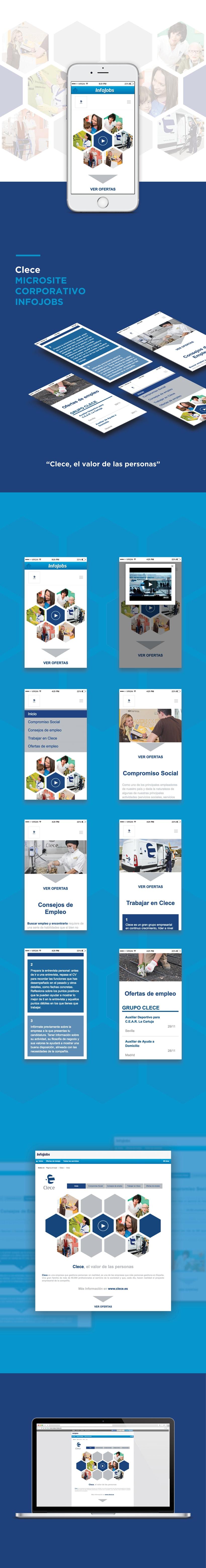 Microsite corporativa Infojobs para CLECE (GRUPO ACS) 2