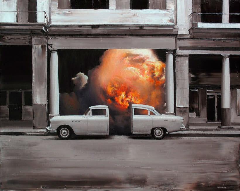 Las fotografías pintadas que son pinturas de Paco Pomet 1