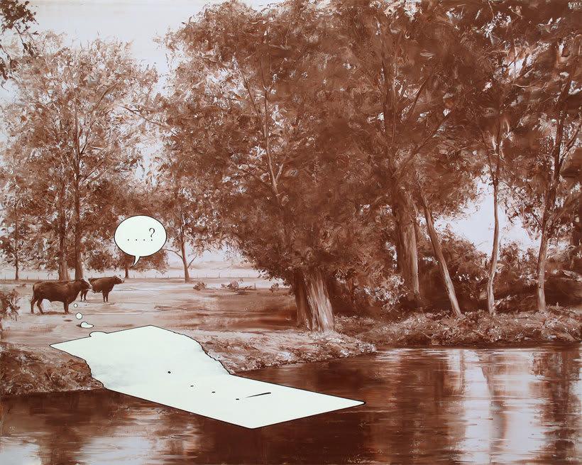Las fotografías pintadas que son pinturas de Paco Pomet 7