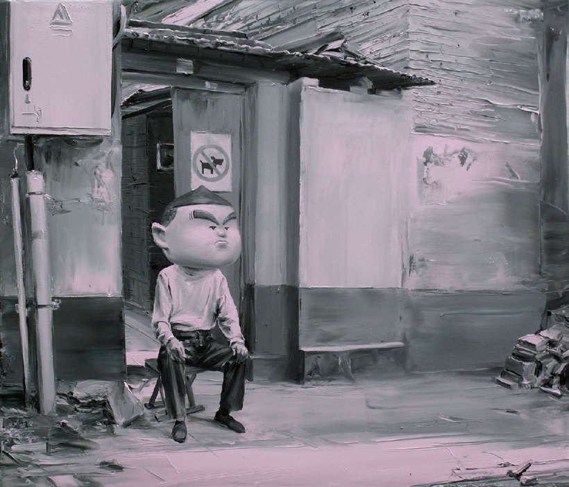 Las fotografías pintadas que son pinturas de Paco Pomet 18