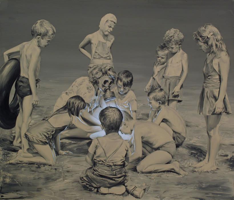 Las fotografías pintadas que son pinturas de Paco Pomet 26