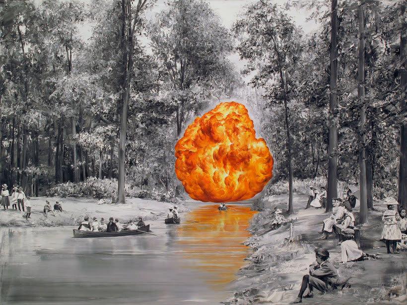 Las fotografías pintadas que son pinturas de Paco Pomet 27