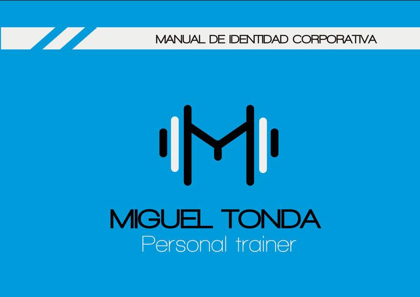 Manual de estilo para Miguel Tonda, personal trainer. 0