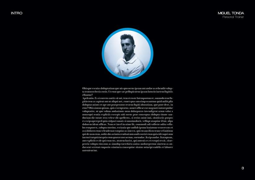 Manual de estilo para Miguel Tonda, personal trainer. 2