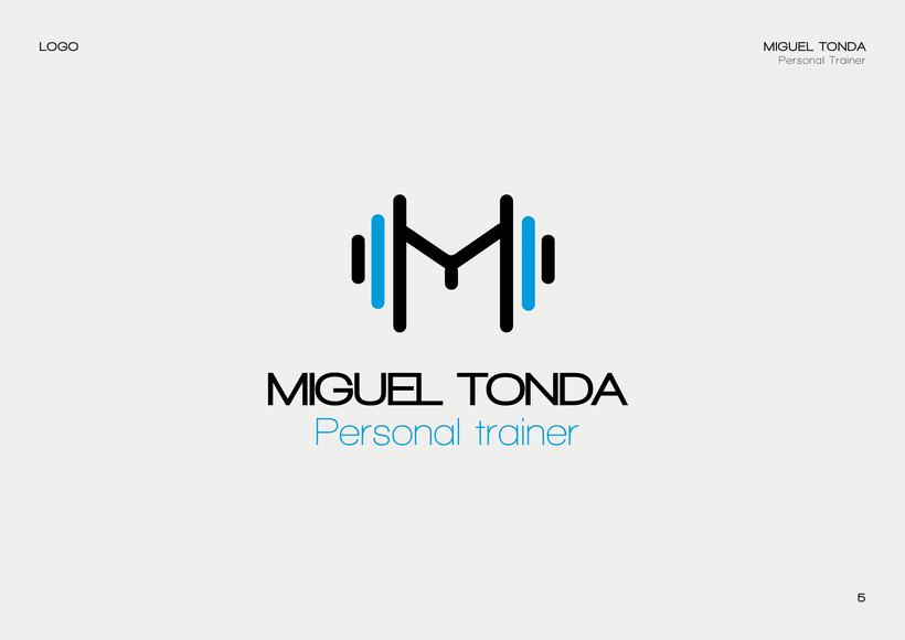 Manual de estilo para Miguel Tonda, personal trainer. 4