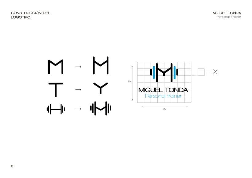 Manual de estilo para Miguel Tonda, personal trainer. 5