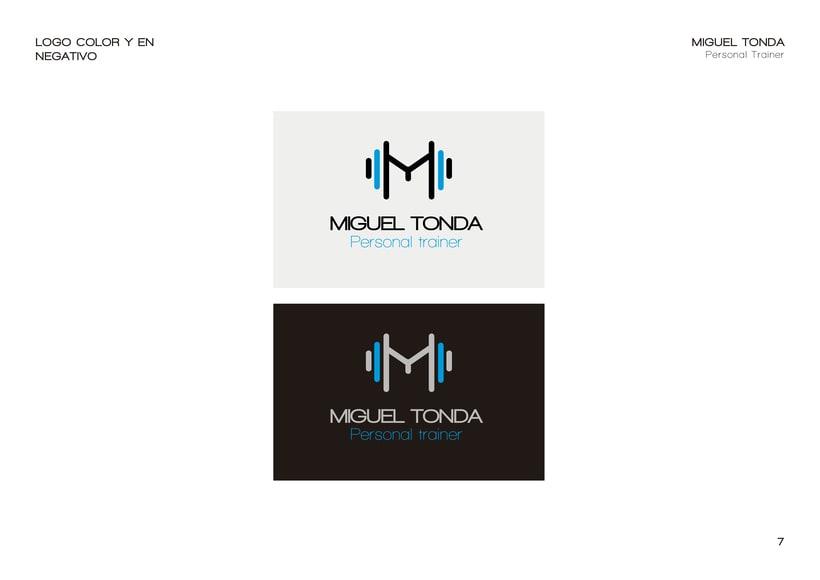 Manual de estilo para Miguel Tonda, personal trainer. 6