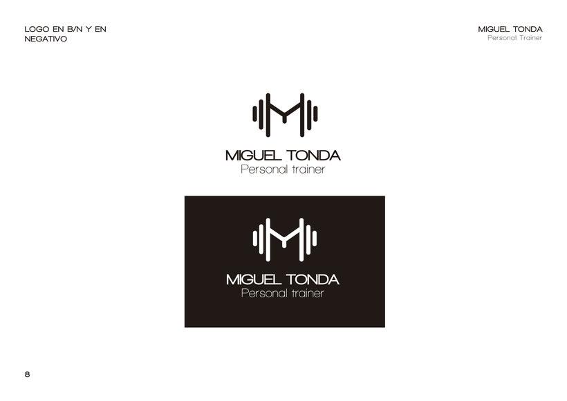Manual de estilo para Miguel Tonda, personal trainer. 7