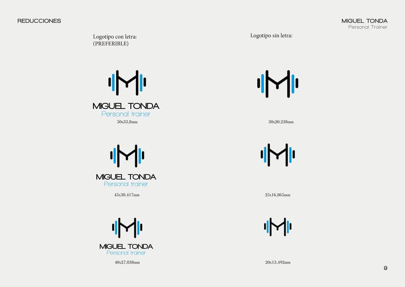 Manual de estilo para Miguel Tonda, personal trainer. 8