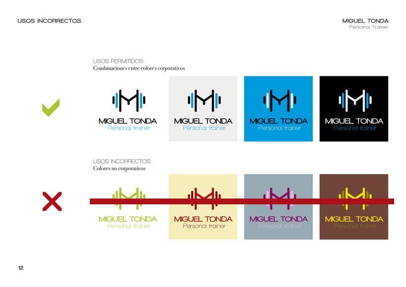 Manual de estilo para Miguel Tonda, personal trainer. 11
