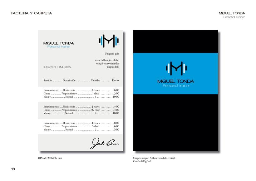 Manual de estilo para Miguel Tonda, personal trainer. 12