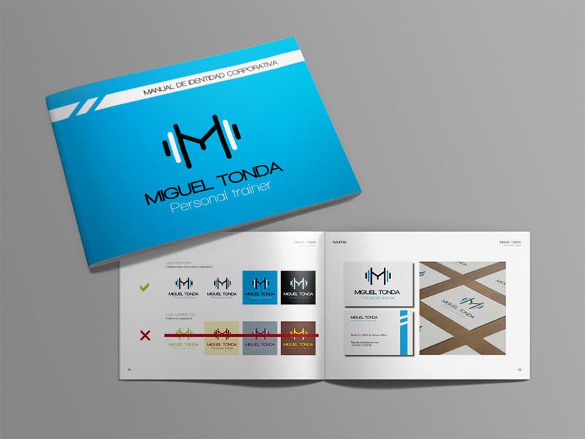 Manual de estilo para Miguel Tonda, personal trainer. 16