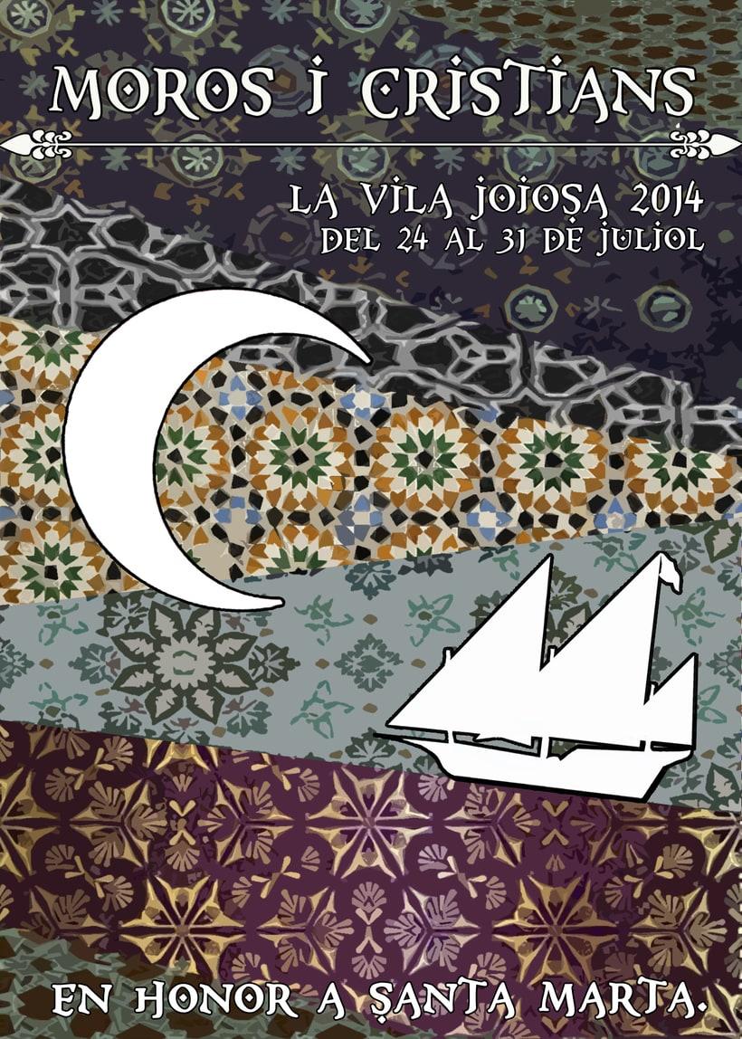 Carteles para fiestas patronales de Villajoyosa -1