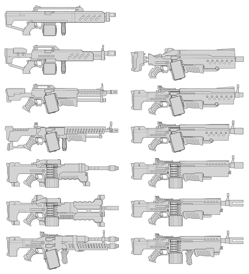 Weapons concept art 0