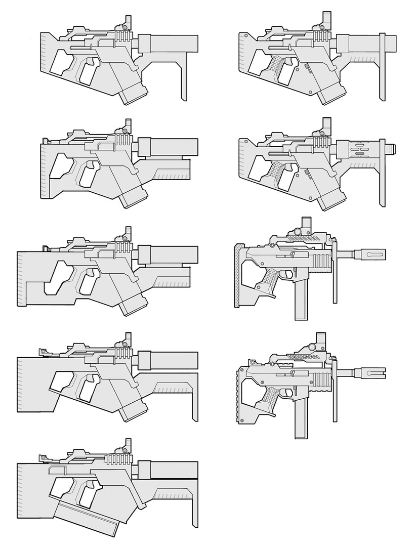 Weapons concept art 2