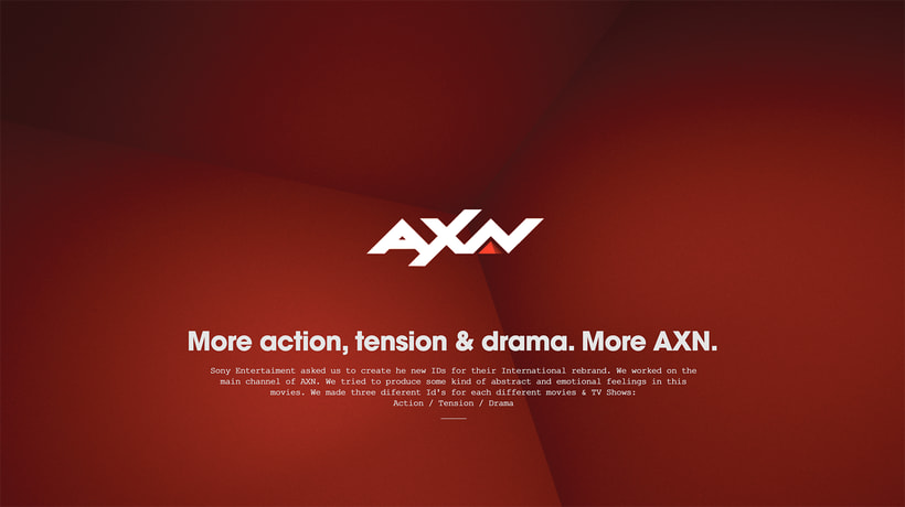 AXN International Rebrand ID's 0