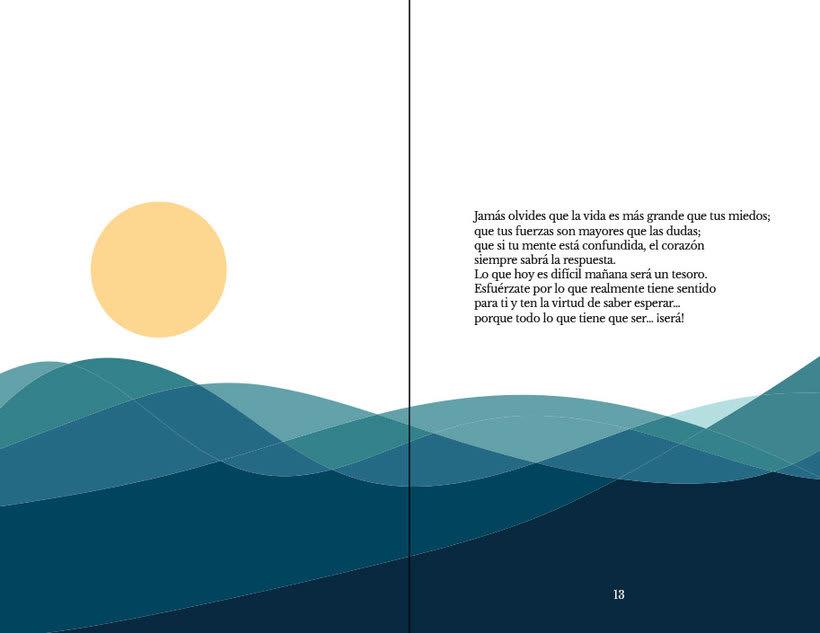 Diseño, ilustración y maquetación de Vive positivo 2