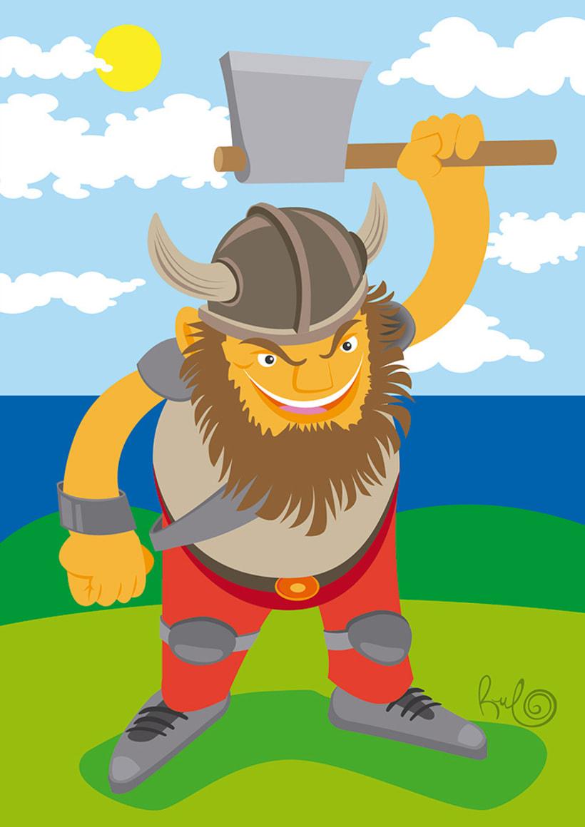 "Ilustración ""Vikingo"" -1"