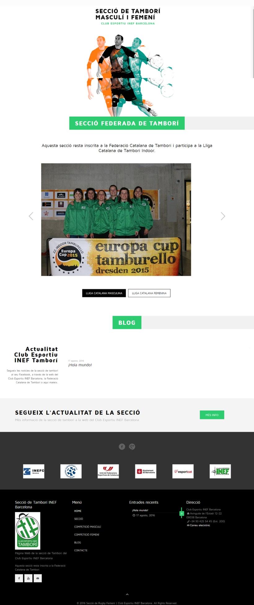 Web de les Seccions del Club Esportiu INEF Barcelona - 2016 1