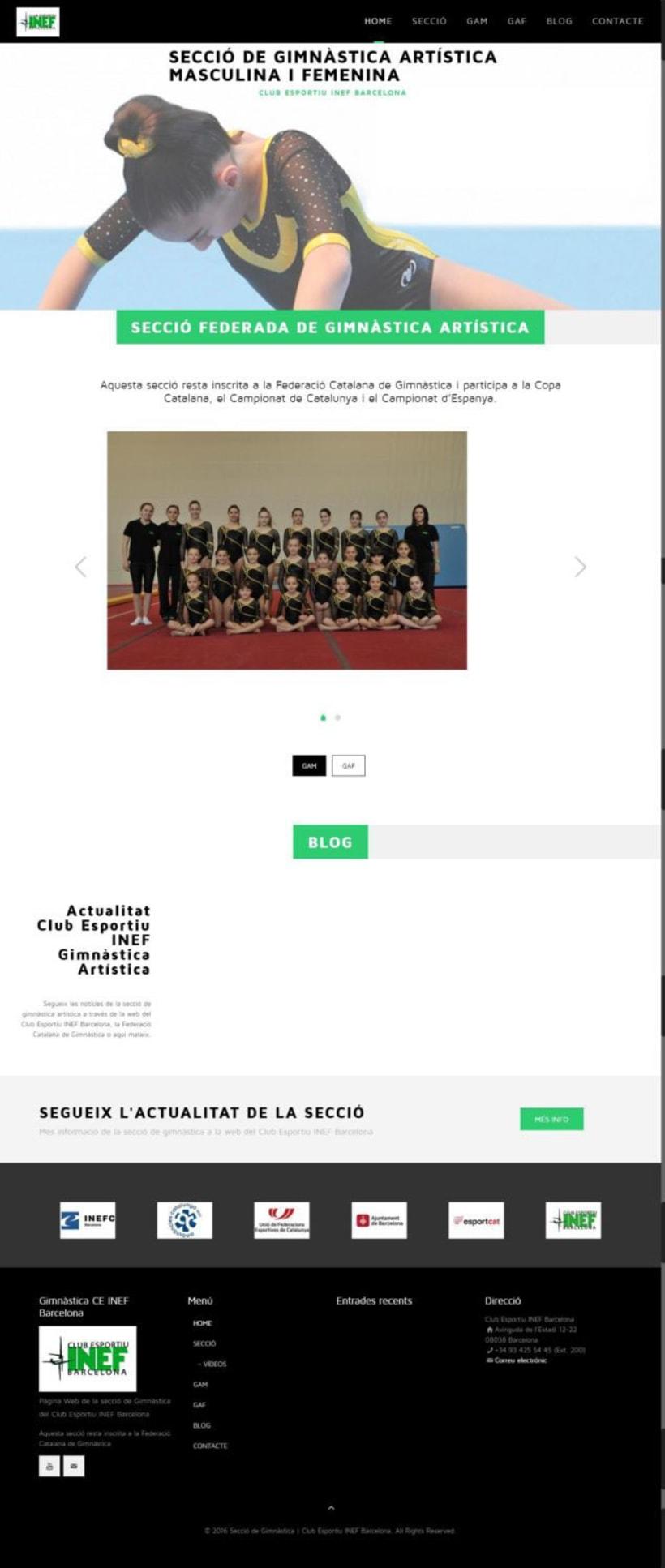 Web de les Seccions del Club Esportiu INEF Barcelona - 2016 3